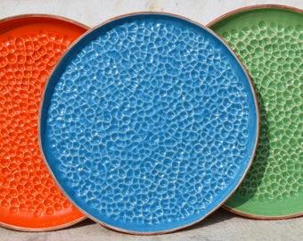 Piatto grande, Vasoio, Piatto pizza, Piatto blu, Piatto arancione, Piatto verde, Piatto rustico, Regalo per Natale, Large platter, Rustic