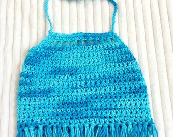 Infant Crop Tops, Toddlers Crochet Halter Tops, Hippie Bo Ho Crochet Halters, Bohemian Crop Tops, Girls Crochet Halter Tops, Crochet Halters