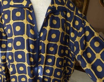 Vintage Silk Bogari Jacket 80s Silk Jacket