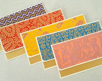 5 Assorted Money Envelopes / Gift envelopes / Cash envelopes