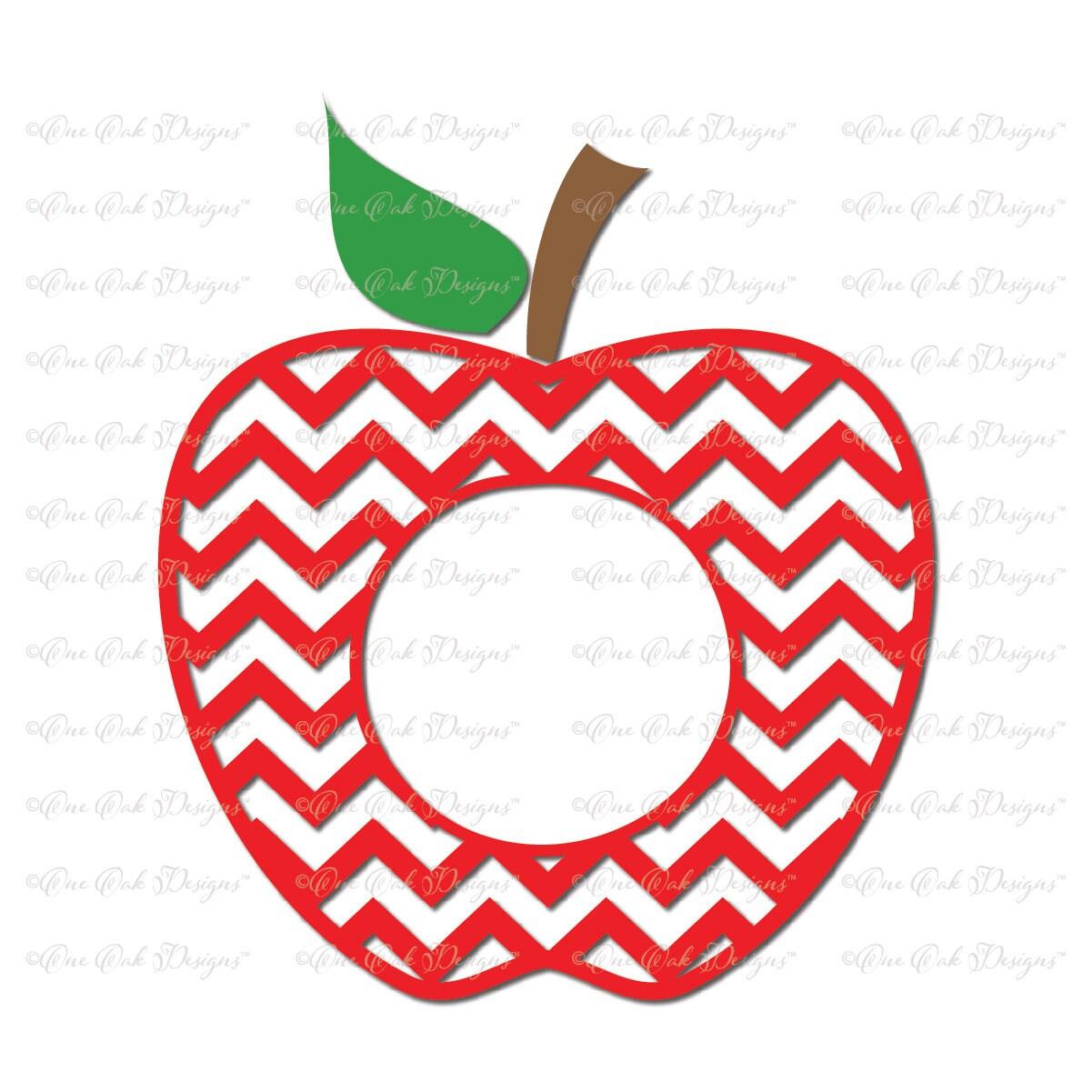 Chevron Apple Circle Monogram Frame Svg on Chevron Circle Clip Art Free