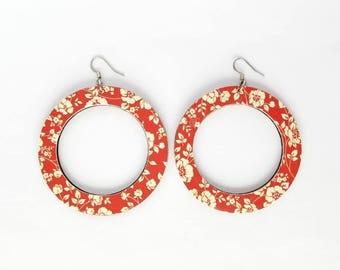 Weightlesswood, lightweight earrings, hoops, woodearrings,stylish