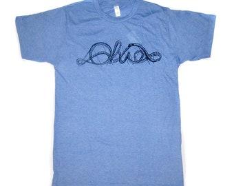 ohio shirt, roller coaster tshirt, ohio roller coaster, more colors available, unisex tshirt, megan lee designs, men's gift idea