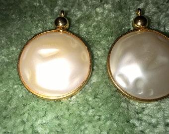 Vintage Judy Lee Faux Pearl Clip on Earrings