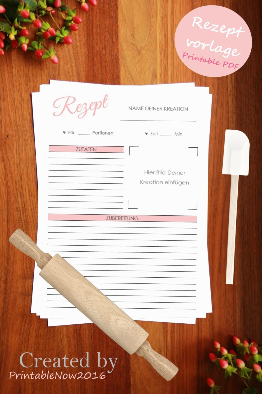 Rezeptvorlage zum Drucken // Printable recipe template //