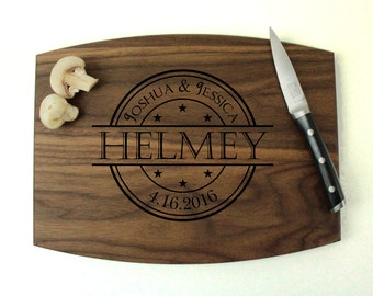 Personalized cutting board, Engraved cutting board, Personalized wedding gift, wedding gift for couples, housewarming gift, engagement gift
