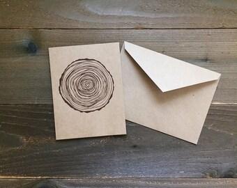 Love Grows: tree ring greeting card