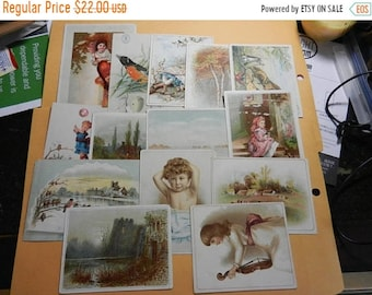 Spring Sale 14 victorian Advertisment Cards