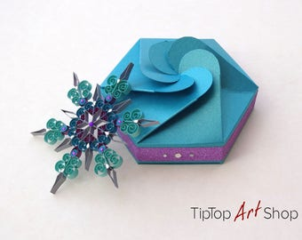 Paper Quilling Snowflake Christmas Ornament - Homemade Decorations by TipTopArtShop