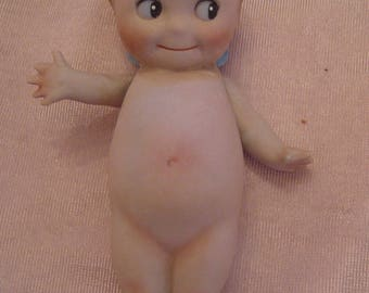 """6"""" Antique 1913 Rose O'Neill All Bisque Kewpie Doll"""