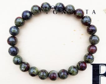 Dragons Blood Jasper Stretch Bracelet