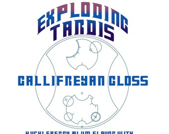 CLEARANCE! Exploding TARDIS Gallifreyan Gloss - Huckleberry Plum Flavored / Blue Colored Lip Gloss - Doctor Who Inspired