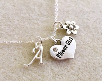 Personalized flower girl gift junior bridesmaid necklace flower girl necklace junior bridesmaid gift jr bridesmaid gift wedding jewelry