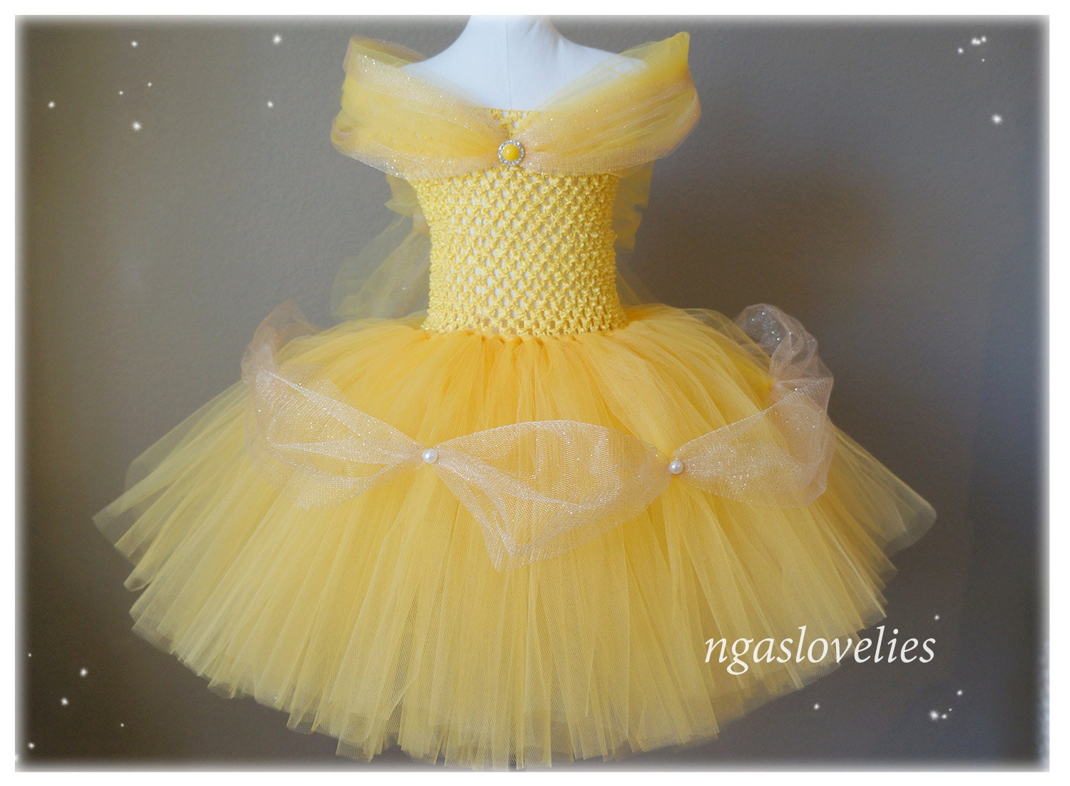 Fabuleux Disney Inspired Belle Dress Beauty and the beast Princess ZX62