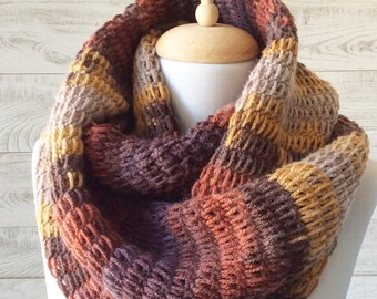Knit scarf chunky knit scarf circle scarf cowl scarf handknit scarf knit infinity scarf women accessories knit scarf
