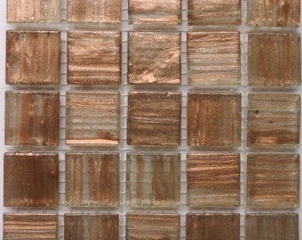 20mm Bright Copper and Gold Semi-Transparent Mosaic Tiles//Mosaic Craft Supplies