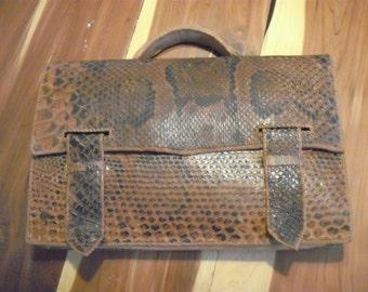 Vintage Snakeskin Brief- lap top case