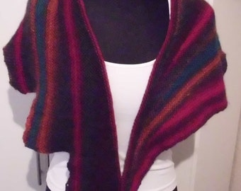 handknitted scarf with subjects, mc lana jazz, handknitted, warm, colorful, fan,