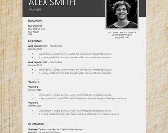 Clean Resume Template | Word Resume Template | CV Template | Cover Letter Templates | Simple Resume Template | Creative Resume Template