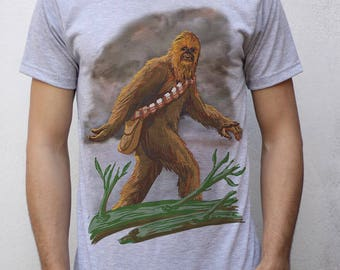 Chewbacca as Bigfoot T shirt