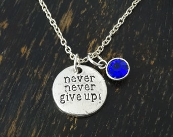 Winston churchill quote never give up necklace never give up winston churchill quote never give up necklace never give up charm never give up pendant never give up jewelry motivational necklace aloadofball Images