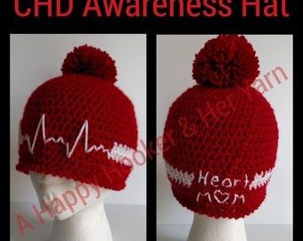 CHD Awareness Hat-Child Size