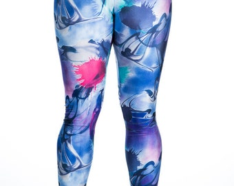 Splash-  Multi Colored Spandex Leggings