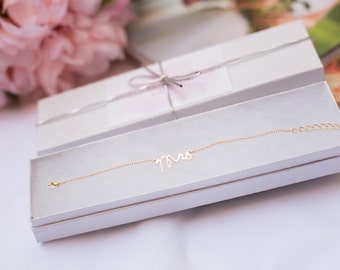 Mrs. Bracelet, Silver Bracelet, Gold BraceleT, Bridal Shower Gift, Gift for Bride, Bride to be gift, Bachelorette, New Bride