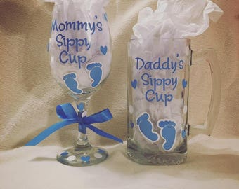 Mom and Dad Sippy Cups!