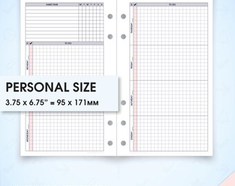 Weekly planner undated filofax personal inserts printable wo2p.h (weekly planner inserts, printable weekly planner, week on two pages)