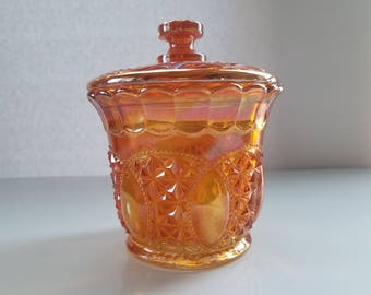 Vintage Carnival Covered Candy dish