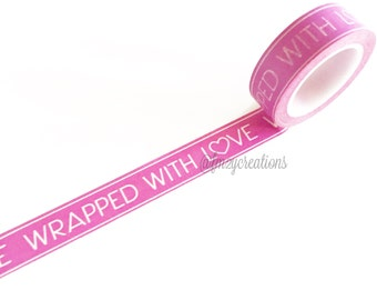 WASHI TAPE | Wrapped in Love Washi Tape | Masking Tape | Scrapbooking | Journaling | Japanese tape | Planner washi Tape |  Valentine's Day