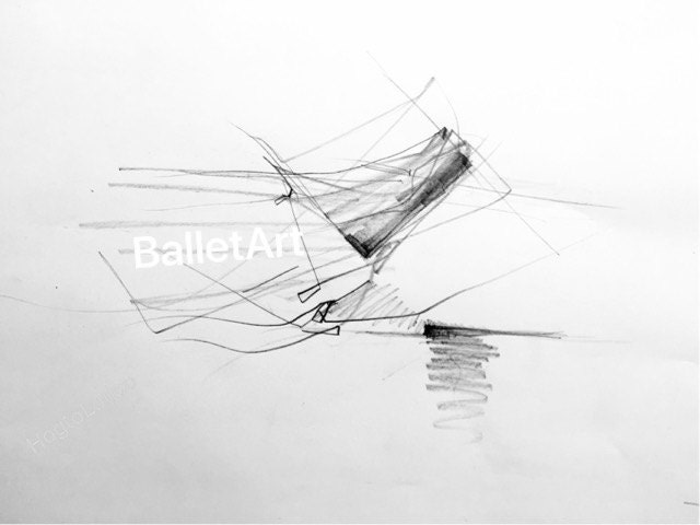 Architecture Art Gifts Pencil Sketch Abstract Prints Wall Architectural Drawing