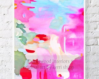 Abstract Watercolor Giclee print  'Equinox Rising' 11x14  - Abstract Art - Bright Modern Abstract Print