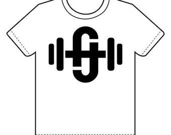 Fitness Jones—Logo—Black on White