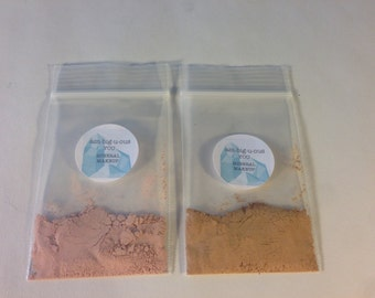 Sample of Two Different Mineral Foundation Colors