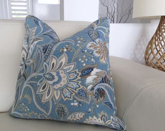 Hamptons Style Cushions, Linen Cushions, Hampton's Pillows, Cover Only.  Valdosta Pillow. Blue & White Cushions, Scatter Cushion covers.