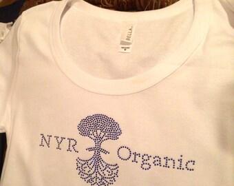 White NYR Organic Tee