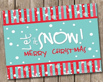 Let is Snow Christmas Card