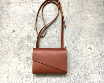Brown Leather Crossbody Bag - Pioneer Mini