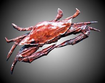Blue Crab Wall Sculpture
