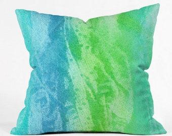 Caribbean Sea Outdoor Throw Pillow