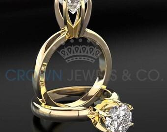 Diamond Anniversary Ring 18 Karat Yellow Gold 2 1/3 Carat Certified Round Cut H SI2 Women Diamond Ring