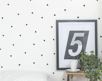 Confetti Triangles | Modern Wall Decal Vinyl Sticker | 2.5x 3cm | for Boys or Girls | Sets of 200 | For Nursery, Kids OR Teens Room