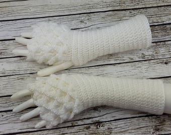 Dragon Gloves - Fingerless gloves - Arm warmers  -Fingerless Mittens - Hand warmers