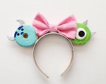 Monsters Inc Donut Ears / Monsters Inc Mouse Ears / Mike and Sully Ears / Monsters Inc Ears / Disney Ears