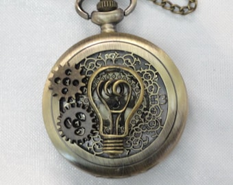 Steampunk Pocket  Pendant Watch Necklace