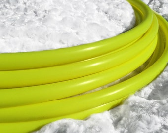 "UV Yellow 3/4"" Polypro Dance & Exercise Hula Hoop COLLAPSIBLE push button saturn fluorescent"