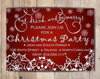 Digital Christmas Party Invitation