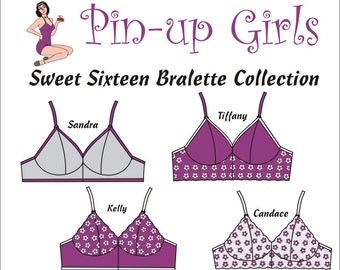Sweet Sixteen Bralette Collection Pattern  by Pin Up Girls